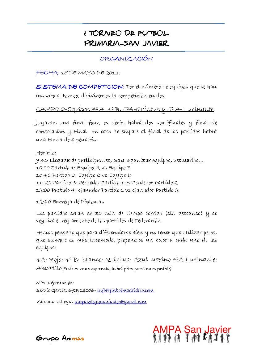 I T0RNE0 DE FUTB0L-organizacion CAMPO 2